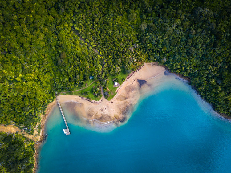 Aerial of Ship Cove